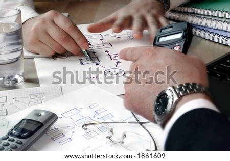 Business people planning