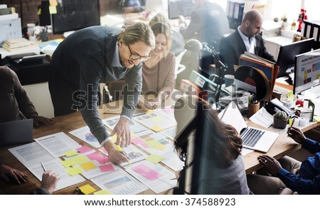 Business People Planning Strategy Analysis Office Concept #374588923