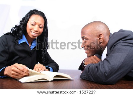 Business People Reading