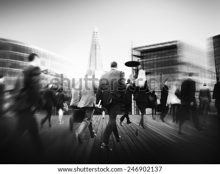 Business People Rush Hour Walking Commuting City Concept #246902137
