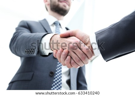 business people shaking hands...