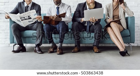 Business People Sitting Sofa Couch Unity Concept - Shutterstock ID 503863438