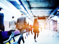 Business People Subway Station Commuter Travel Concept