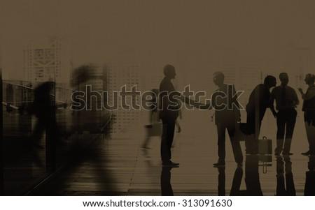 Business People Talking Connection Conversation Concept #313091630