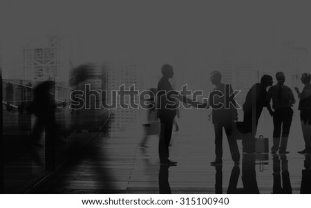 Business People Talking Connection Conversation Concept #315100940