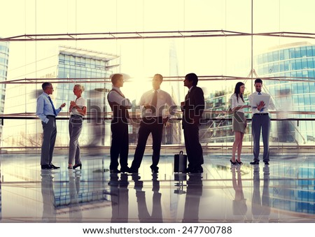 Business People Talking Conversation Communication Interaction Concept