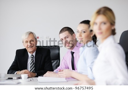 business people  team  at a meeting in a light and modern office environment. #96757495