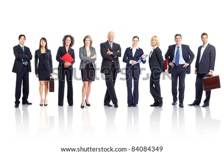 Business people team. Isolated over white background. - stock photo