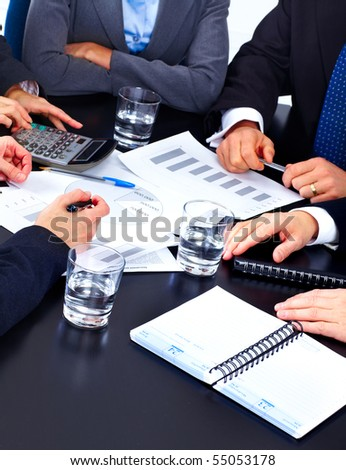 Business people team working in the office