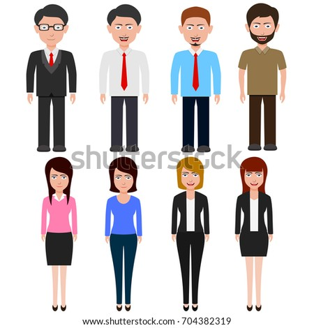 Business People teamwork ,cartoon character.