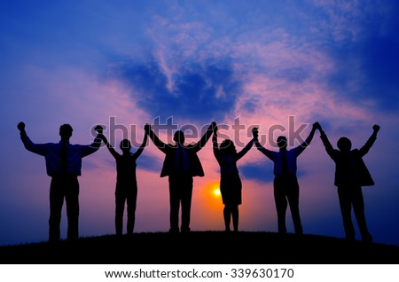 Business People Togetherness Corporate Team Unity Concept