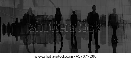 Business People Urban Scene Organization Team City Life #417879280