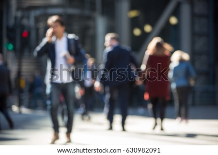 Business people walk blurred image for background. London, UK  #630982091