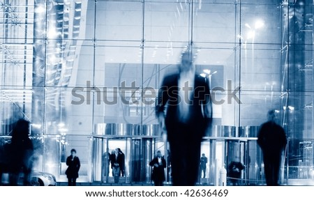 business people walk in the street-2