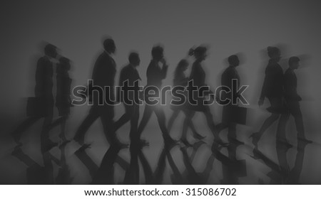 Business People Walking Commuter Rush Hour Concept #315086702