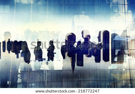 Business People Working and Urban Scene #218772247