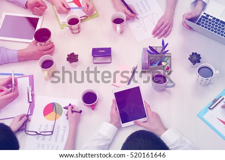 Business people working at office, closeup #520161646