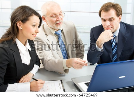 Business people working with lap-top