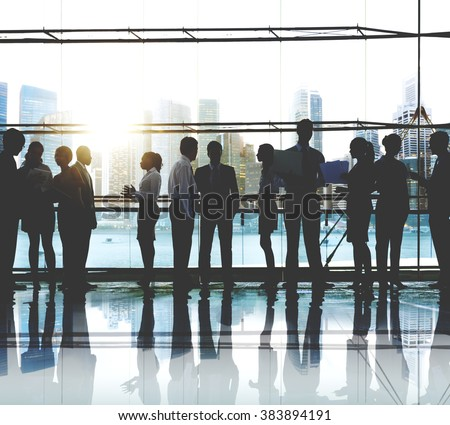 Business People Working Working Corporate Concept