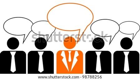 Business peoples,  illustration