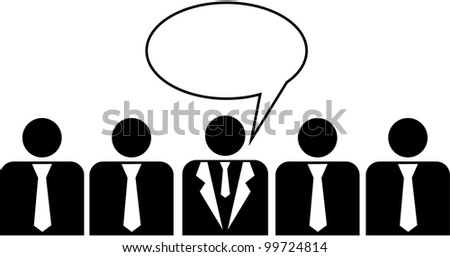 Business peoples,  illustration