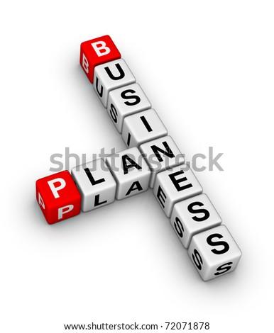 business plan crossword sign