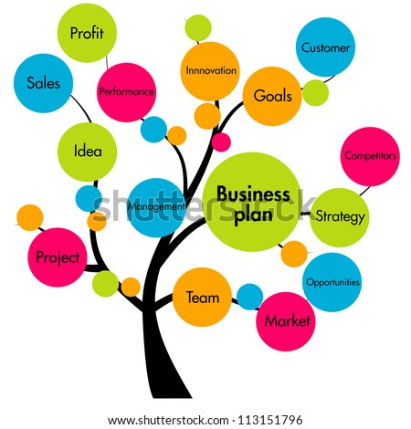 business plan tree - stock photo