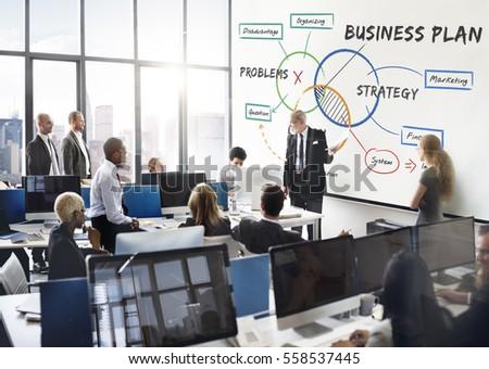 Business Plan Work Diagram Concept