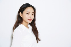 Business portrait of Asian young slender woman