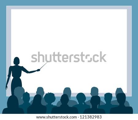 Business presentation, seminar.