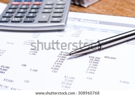 business report on table, business performance concept