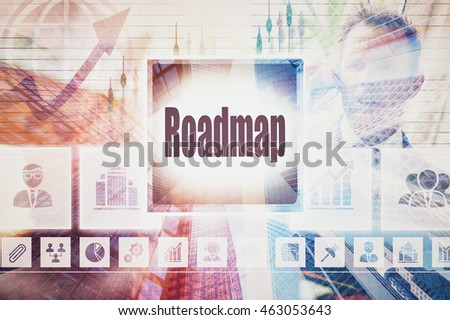 Business Roadmap collage concept #463053643