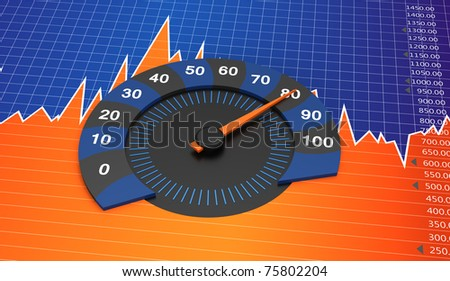 Business round chart with financial chart
