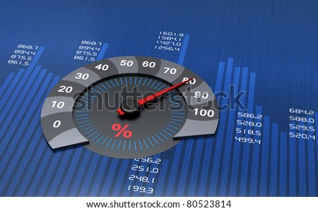 Business round chart with percentages