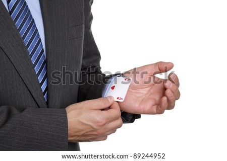 Business sayings ace up his sleeve magic trick or cheating in card game