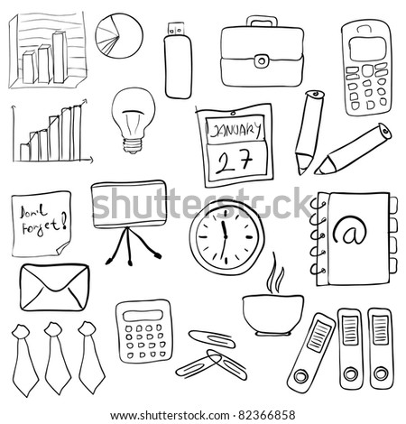 business set, also available as a vector