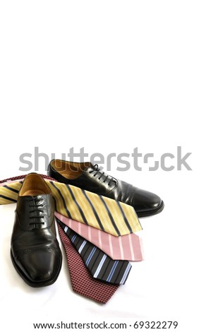 Business shoes and ties