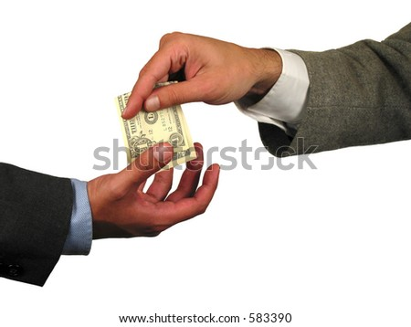 Business situation: giving money