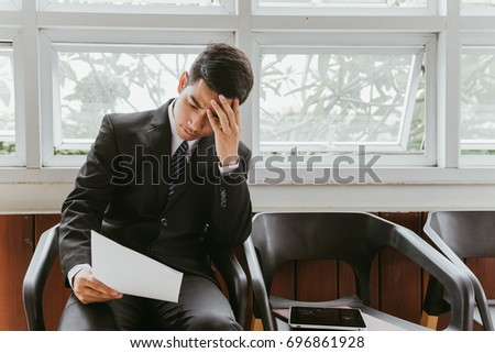 Business situation job interview concept. Business find job. Recruiter and candidate during job interview