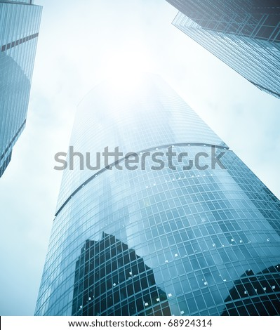business skyscrapers of downtown