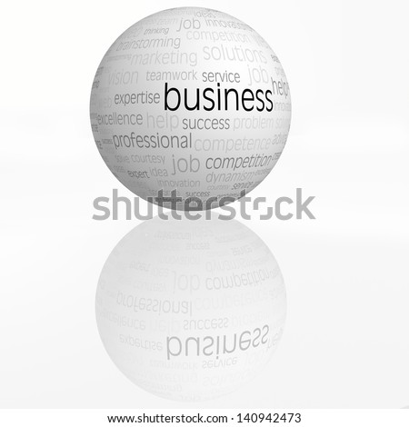 business sphere with reflection isolated