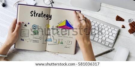Business strategy action success achievement sketch #581036317