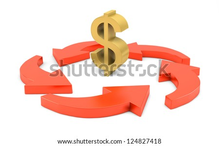 Business Strategy concept isolated with clipping path