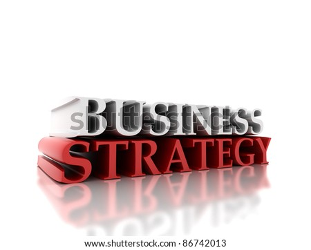 Business strategy 3D background