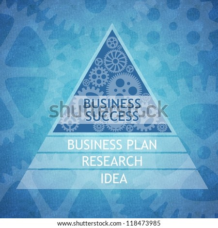 Business success concept as a result of proper business planning