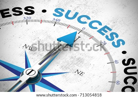Business success concept with target as motivation (3D Rendering)