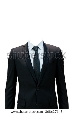 Business suite isolated on white background with clipping path. #368637143