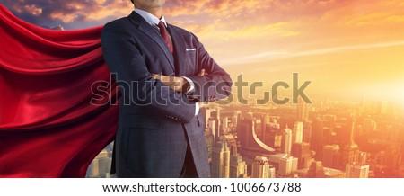 Business superhero. Mixed media #1006673788