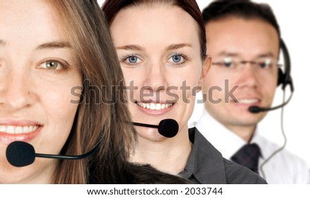 business support team over a white background