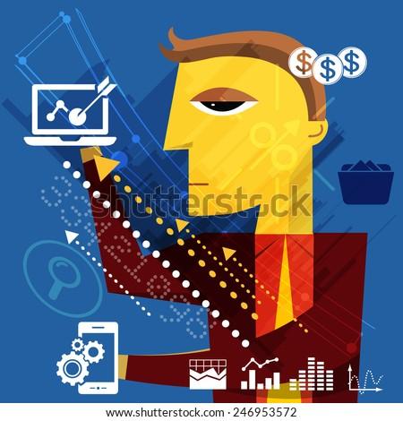 Business Target Management Concept - Illustration